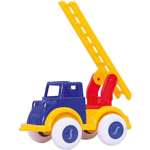 Viking Toys Машинка Viking Toys Пожарная машина с лестницей, 21 см игровые коврики viking toys сумка коврик город с 2 машинками 90х70 см
