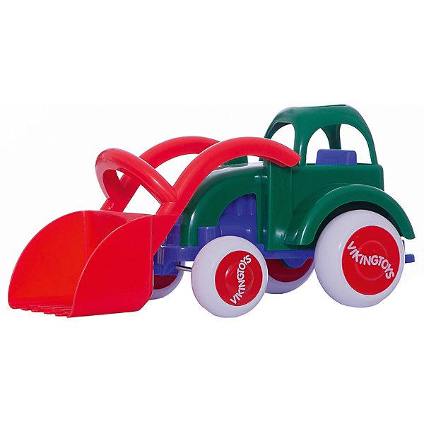 Viking Toys Машинка Viking Toys Трактор с ковшом, 28 см игровые коврики viking toys сумка коврик город с 2 машинками 90х70 см