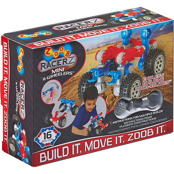цена на Zoob Конструктор ZOOB Racer-Z Mini 4-Wheeler, 12 деталей