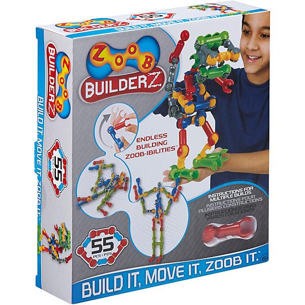 Zoob Контруктор ZOOB Builder-Z, 55 деталей zoob конструктор zoob racer z car designer 76 деталей