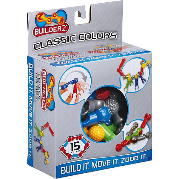 Zoob Контруктор ZOOB Builder-Z, 15 деталей конструкторы zoob mobile racer 37 элементов