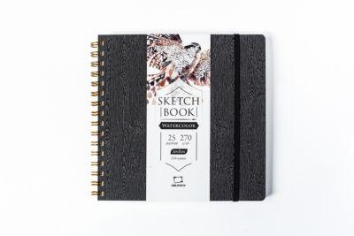 Скетчбук для акварели Малевичъ  Torchon , Brown wood, 25 листов, 21х21, артикул:8700122 - Товары для художников
