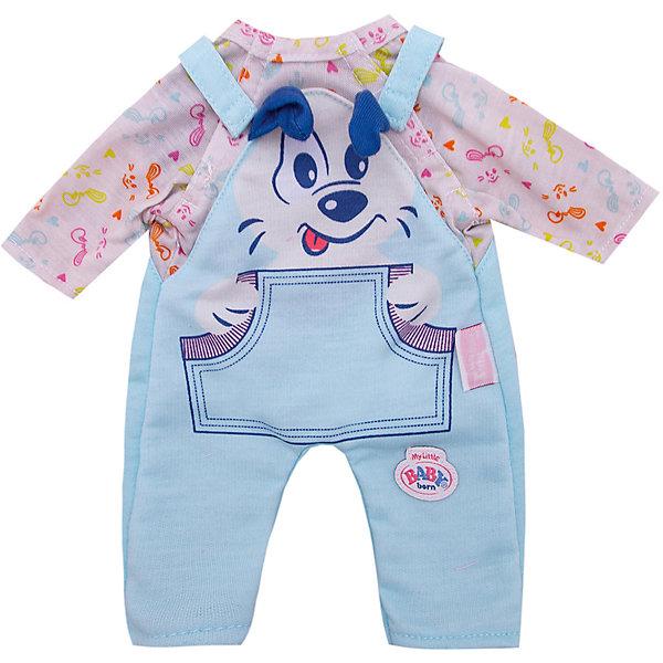 Zapf Creation Одежда для куклы My little BABY born Костюмчик, голубой