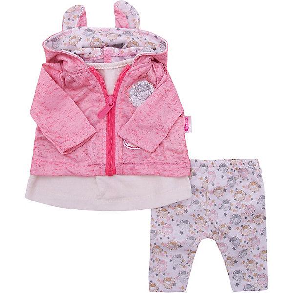 Zapf Creation Одежда для куклы Zapf Creation Baby Annabell Костюмчик для прогулки, ярко- baby annabell аксессуар для кукол памперсы