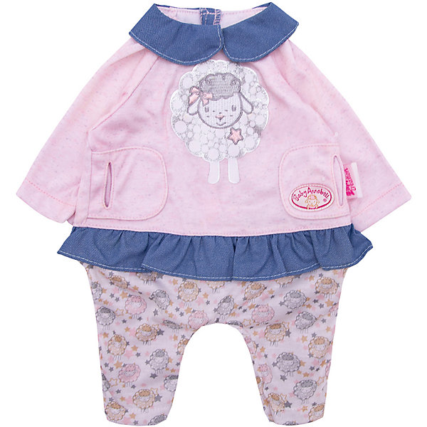 Zapf Creation Одежда для куклы Baby Annabell Костюмчик прогулки, розово-голубой
