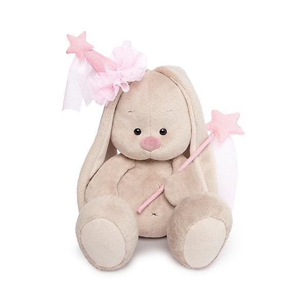 Мягкая игрушка Budi Basa Зайка Ми - фея, 18 смМягкие игрушки зайцы и кролики<br>Характеристики товара:<br><br>• высота игрушки: 18 см;<br>• возраст: от 3 лет;<br>• материал: текстиль, искусственный мех, наполнитель, пластик;<br>• размер упаковки: 15х14х15 см;<br>• страна бренда: Россия.<br><br>Мягкая и пушистая Зайка Ми станет лучшим другом для ребенка. Она изготовлена из приятных на ощупь материалов, поэтому её так удобно обнимать и засыпать с ней в обнимку. Зайка одета в костюмчик феи, в лапках она держит волшебную палочку. Игрушка изготовлена из качественных материалов, безопасных для детей.<br>Ширина мм: 140; Глубина мм: 140; Высота мм: 150; Вес г: 270; Цвет: бежевый; Возраст от месяцев: 36; Возраст до месяцев: 168; Пол: Женский; Возраст: Детский; SKU: 8720797;