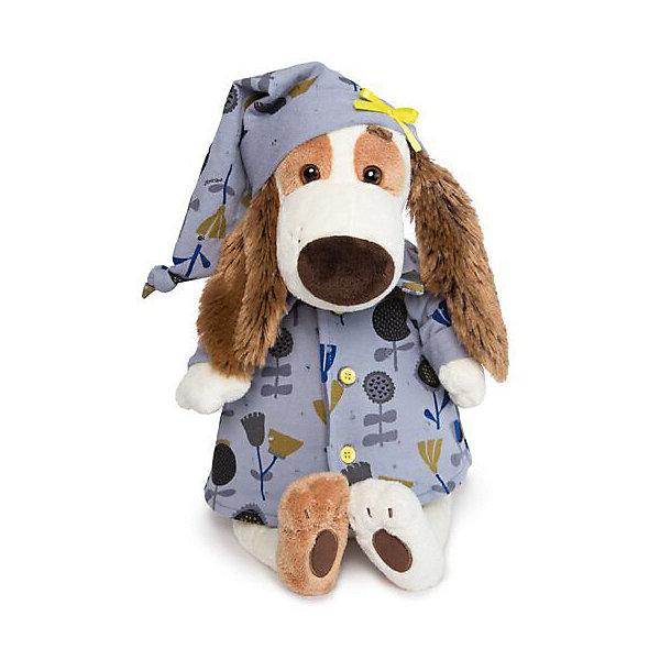 Budi Basa Мягкая игрушка Собака Бартоломей в голубой пижаме цветочек, 27 см