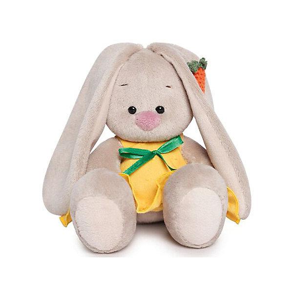 Budi Basa Мягкая игрушка Зайка Ми в желтом сарафане с морковой, 15 см