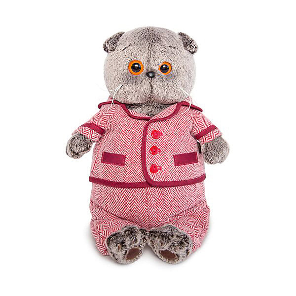 Budi Basa Мягкая игрушка Budi Basa Кот Басик в красном пиджаке и брюках в ёлочку, 22 см