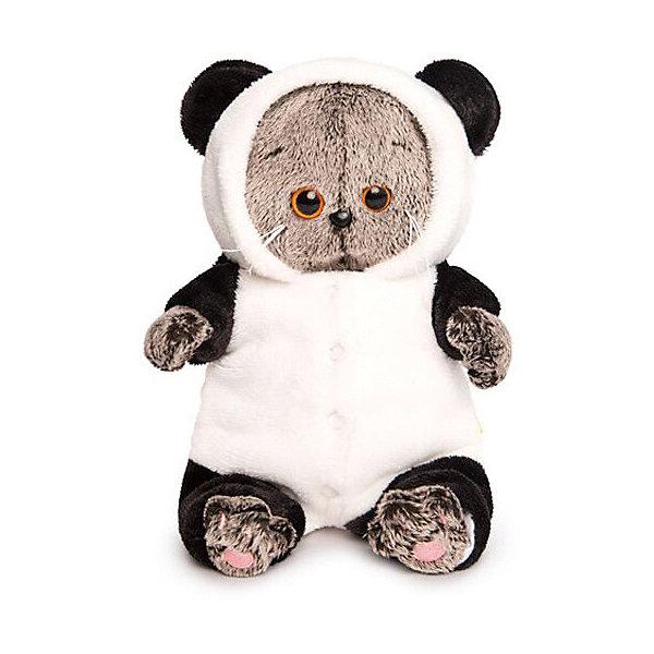 Budi Basa Мягкая игрушка Budi Basa Кот Басик Baby в комбинезоне Панда, 20 см budi basa мягкая игрушка budi basa кот басик baby с ёлочкой 20 см