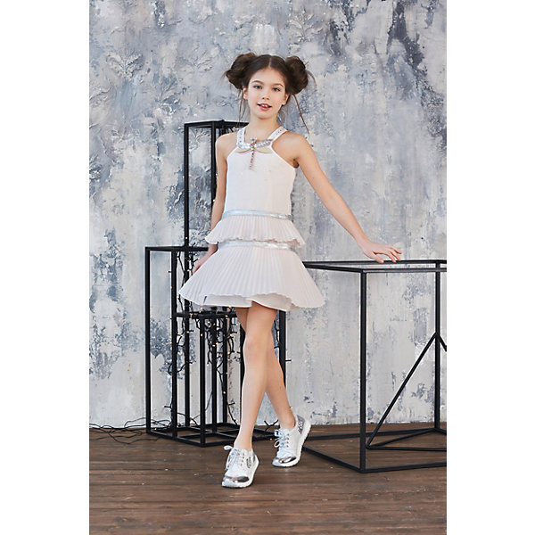 Купить Сарафан Choupette для девочки, Россия, розовый, 98, 134, 116, 110, 104, 140, 122, Женский