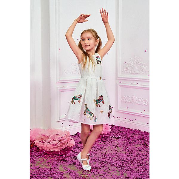Купить Платье Choupette для девочки, Россия, белый, 86, 134, 140, 98, 104, 122, 128, 116, 92, 110, Женский