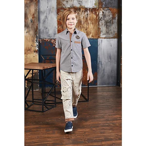 Купить Рубашка Choupette для мальчика, Россия, коричневый, 98, 140, 92, 104, 110, 128, 122, 134, 116, Мужской