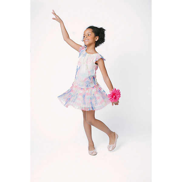 Платье Choupette для девочкиОдежда<br>Характеристики товара:<br><br>• цвет: белый;<br>• состав ткани: 100% полиэстер;<br>• подкладка: 100% хлопок;<br>• сезон: лето;<br>• застежка: молния;<br>• короткие рукава;<br>• страна бренда: Россия.<br><br>Добавить в лето французского шика поможет это платье для детей. Такое детское платье сделано из легкого материала, подкладка - из дышащей хлопковой ткани, которая отлично подходит для ношения детьми. Легкое платье для ребенка украшено тропическим принтом, низ - плиссированный, это выглядит модно и женственно. Детские товары от известного бренда Choupette известны оригинальным дизайном в европейском стиле, они помогают ребенку с детства приучаться к хорошему вкусу.