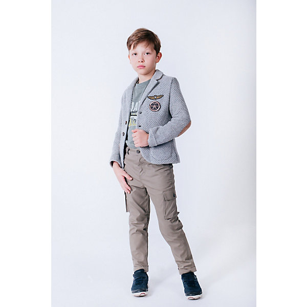 Купить Пиджак Choupette для мальчика, Россия, серый, 98, 134, 104, 110, 116, 122, 128, 140, Мужской
