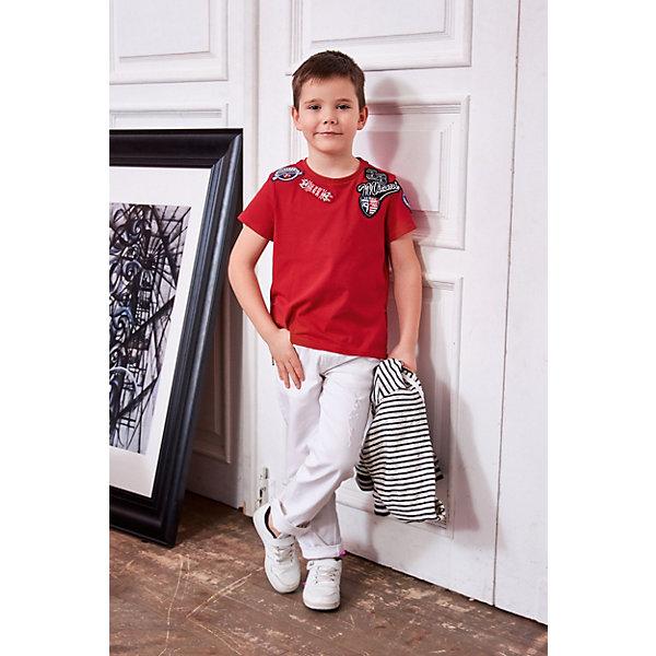 Футболка Choupette для мальчикаФутболки, поло и топы<br>Характеристики товара:<br><br>• цвет: красный;<br>• состав ткани: 98% хлопок, 2% полиуретан;<br>• сезон: лето;<br>• короткие рукава;<br>• страна бренда: Россия.<br><br>Красная футболка для детей от бренда Choupette может стать основой летнего гардероба. Такая футболка для ребенка сделана преимущественно из дышащего натурального хлопка, а синтетические нити добавляют ткани прочности и износоустойчивости. Детская футболка декорирована стильным принтом, цвет - эффектный. Товары для детей от известного бренда Choupette - это модные вещи, которые добавят в гардероб ребенка оригинальную французскую нотку.<br>Ширина мм: 199; Глубина мм: 10; Высота мм: 161; Вес г: 151; Цвет: красный; Возраст от месяцев: 18; Возраст до месяцев: 24; Пол: Мужской; Возраст: Детский; Размер: 92,128,116,134,110,122,104,140,98; SKU: 8723014;