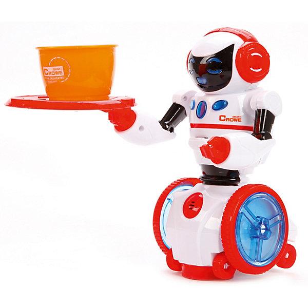 Робот Наша игрушка Мой помощникРоботы<br>Характеристики товара:<br><br>• возраст: от 3 лет;<br>• материал: пластик, металл;<br>• тип батарейки: АА на 1,5 V (входят в комплект);<br>• в комплекте: робот, поднос, чашка;<br>• размер: 32 х 10.5 х 24 см;<br>• вес упаковки: 592 гр.<br>• страна бренда: Китай.<br><br>Восхитительный интерактивный робот  станет отличным помощником. Он умеет держать поднос с чашечкой, входящие в комплект с игрушкой, а также приносить и уносить их. <br><br>Передвигается робот на колесах и реагирует на посторонние звуки, например, хлопки в ладоши. Помимо движения в игрушечном помощнике имеются яркие и впечатляющие звуковые и световые эффекты, которые можно активировать во время игры. <br><br>Каждый ребенок наверняка будет счастлив получить такого робота в подарок.<br>Ширина мм: 320; Глубина мм: 240; Высота мм: 110; Вес г: 592; Цвет: красный/белый; Возраст от месяцев: 36; Возраст до месяцев: 2147483647; Пол: Мужской; Возраст: Детский; SKU: 8723058;