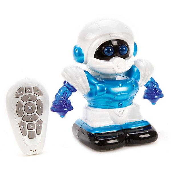 Наша Игрушка Радиоуправляемый робот Наша Игрушка со светом и звуком, синий hap p kid игрушка робот red revo 3578t