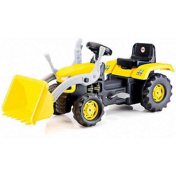 DOLU Педальный трактор-экскаватор DOLU, желто-черный трактор экскаватор falk педальный с прицепом зеленый 225 см