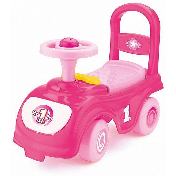 - Каталка-автомобиль DOLU Мой первый автомобиль, розовый