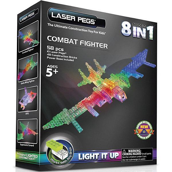 Laser Pegs Светящийся конструктор 6 в 1 Laser Pegs Воздушный транспорт, 58 деталей