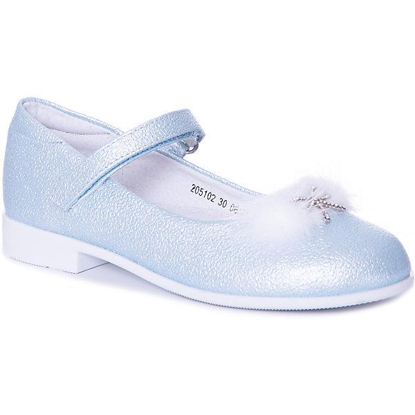 Купить Туфли Mursu для девочки, Китай, голубой, 30, 31, 28, 29, 32, 27, Женский