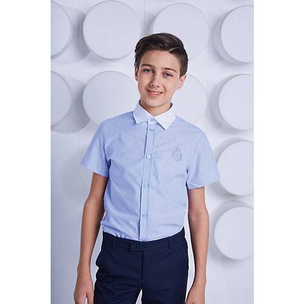 Купить Рубашка Choupette для мальчика, Россия, синий, 122, 164, 146, 152, 158, 128, 140, 134, 170, Мужской