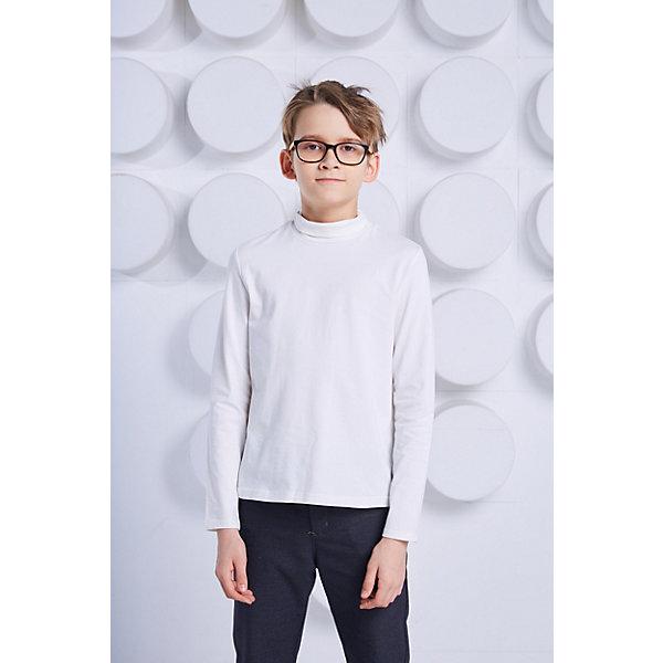 Джемпер Choupette для мальчикаСвитера и кардиганы<br>Характеристики товара:<br><br>• цвет: белый;<br>• состав ткани: 92% хлопок, 8% эластан;<br>• сезон: круглый год;<br>• особенности модели: школьная;<br>• длинные рукава;<br>• страна бренда: Россия.<br><br>Одежда для детей от известного бренда Choupette - это модели, которые позволяют добавить в гардероб ребенка французский шик и элегантность. Удобная водолазка для детей - универсальная основа для создания классического или демократичного комплекта. Легкая водолазка для ребенка от бренда Choupette сделана из качественного материала, синтетические нити добавляют вещи износоустойчивости. Детская водолазка с длинным рукавом отличается классическим фасоном, она отлично впишется в повседневный и школьный гардероб ребенка.<br>Ширина мм: 190; Глубина мм: 74; Высота мм: 229; Вес г: 236; Цвет: бежевый; Возраст от месяцев: 72; Возраст до месяцев: 84; Пол: Мужской; Возраст: Детский; Размер: 122,146,152,128,134,140; SKU: 8743926;