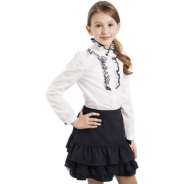 Купить Блузка Choupette для девочки, Россия, белый, 122, 140, Женский