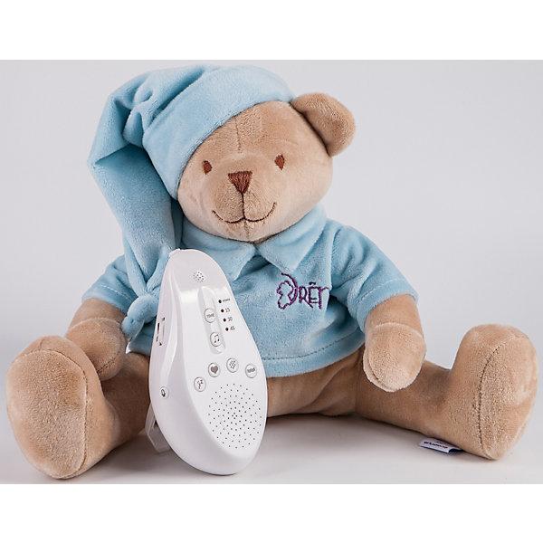 Купить Игрушка для сна Медведь DrЁma BabyDou со звуковым эффектом, голубой, Drema BabyDou, Россия, Унисекс