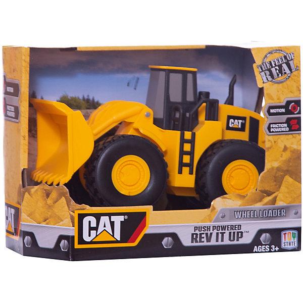 Машина CAT Строительная  техника: ТракторМашинки<br>Характеристики товара:<br><br>• возраст: от 3 лет;<br>• материал: пластик;<br>• размер упаковки: 24х19х13 см;<br>• вес упаковки: 650 гр.<br><br>Машина CAT «Строительная техника: Трактор» - машинка, выполненная в виде трактора с ковшом и мощными большими проходимыми колесами. Машинка оснащена инерционным механизмом. Стоит лишь отвести ее назад и отпустить, тогда машинка поедет вперед. Ковш машинки поднимается и опускается, что позволит ребенку придумать разнообразные сюжеты для игры по разгрузке и выгрузке груза, мусора, сбору песка. Машинка выполнена из качественного безопасного пластика.<br><br>Машину CAT «Строительная техника: Трактор» можно приобрести в нашем интернет-магазине.<br>Ширина мм: 130; Глубина мм: 190; Высота мм: 240; Вес г: 650; Цвет: желтый; Возраст от месяцев: 36; Возраст до месяцев: 84; Пол: Мужской; Возраст: Детский; SKU: 8770850;
