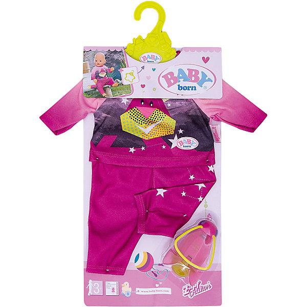 Удобный костюмчик и светлячок-ночник BABY born, розовый от Zapf Creation