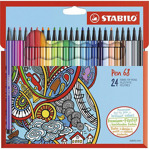 STABILO Фломастеры Stabilo Pen, 24 цвета