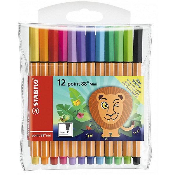 STABILO Набор капиллярных ручек Stabilo Point mini funnimals, 12 цветов stabilo набор ручек