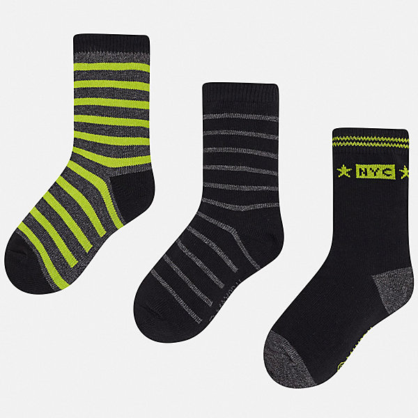 носки dag носки детские комплект 3 пары dag Mayoral Комплект: Носки 3 пары Mayoral для мальчика