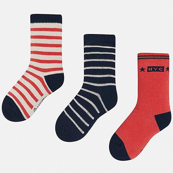 Mayoral Комплект: Носки 3 пары Mayoral для мальчика luvable friends комплект носков 3 пары