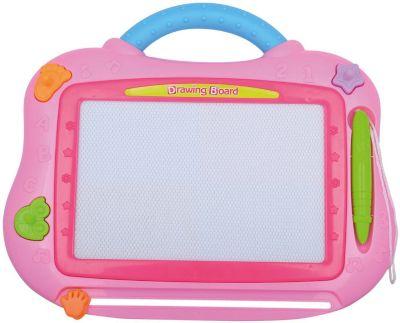 Магнитная доска для рисования, розовая, артикул:8799095 - Рисование и раскрашивание
