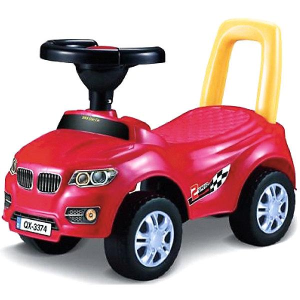 Qunxing Tongzhile Машинка-каталка Авто, красная каталка машинка r toys bentley пластик от 1 года музыкальная красный 326