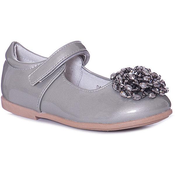 Купить Туфли Vitacci для девочки, Китай, серебряный, 30, 27, 28, 31, 29, 26, Женский