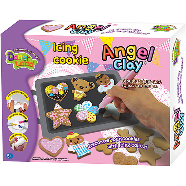 Donerland Набор для лепки из глины Donerland Angel Clay Сахарное печенье 4 fairy angel silicone fondant mold chocolate polymer clay mould