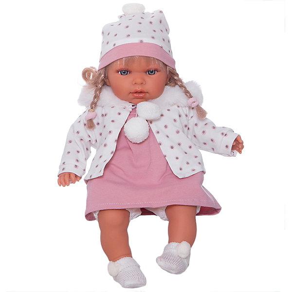 """Кукла Juan Antonio Munecas """"Дана"""", 37см., Розовый/белый"""