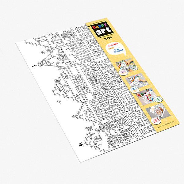Купить Многоразовый коврик-раскраска HappyArt Город , Россия, Унисекс