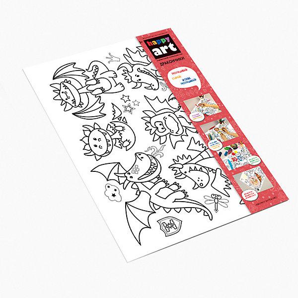 Купить Многоразовый коврик-раскраска HappyArt Дракончики , Россия, Унисекс