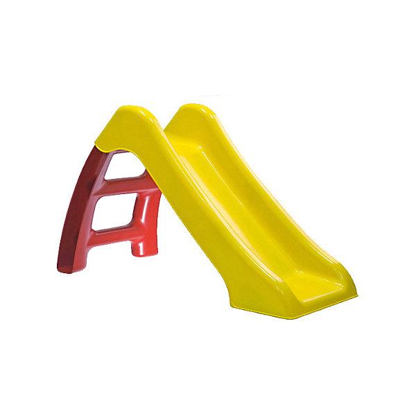Горка Пластик, желто-красная