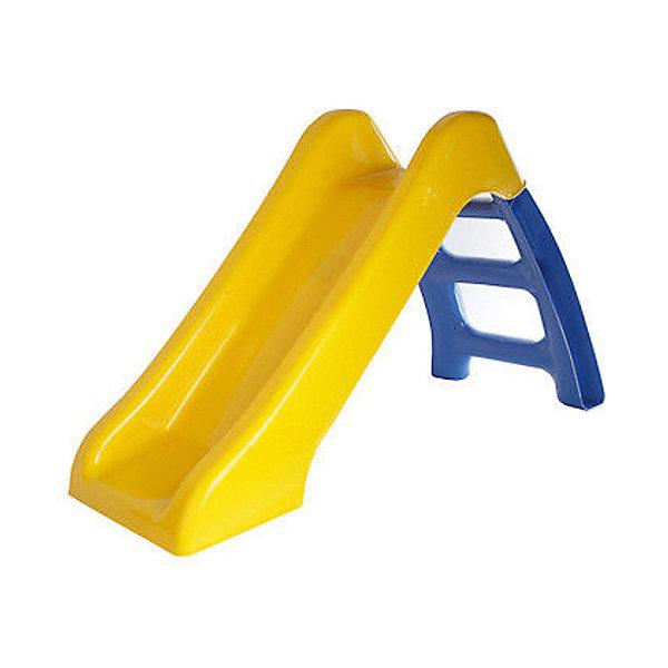 Горка Пластик, желто-голубая