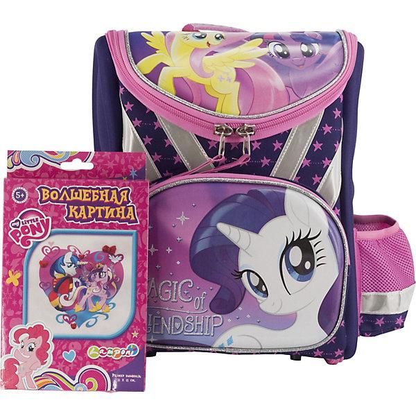 Купить Ранец Академия групп My Little Pony , без наполнения, Китай, фиолетовый, Женский