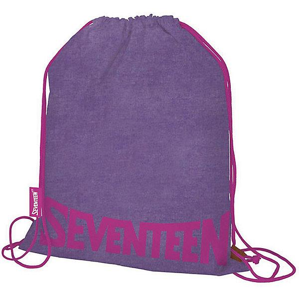 Купить Мешок для обуви Seventeen, фиолетовый, Китай, Унисекс