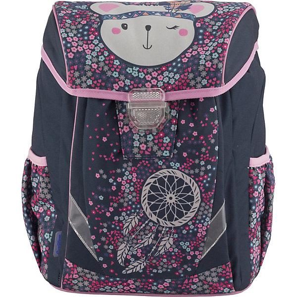 Ранец Seventeen Медвежонок + наушники, без наполненияШкольные рюкзаки<br>Характеристики:<br><br>• возраст от: 6 лет;<br>• цвет: голубой;<br>• материал: полиэстер;<br>• размер рюкзака: 38х30х19 см.;<br>• объем рюкзака: средний ( 20-30 л.);<br>• вес рюкзака: 770 гр.;<br>• тип рюкзака: школьный;<br>• спинка: эргономичная, воздухопроницаемая;<br>• наличие поясного ремня;<br>• тип застёжки: клапан;<br>• количество отделений: 1 отделение с разделителями;<br>• количество внешнних карманов : 3;<br>• прочное и устойчивое дно;<br>• износостойкая обивка;<br>• регулируемые анатомические лямки;<br>• стильный дизайн;<br>• светоотражающие элементы;<br>• бренд: Seventeen .<br><br>Сверхлегкий рюкзак эргономичный от Seventeen - это красивый и удобный ранец, который подойдет всем, кто хочет разнообразить свои школьные будни. Многофункциональный ранец станет незаменимым спутником вашего ребенка в походах за знаниями. Рюкзак имеет яркий рисунок и изготовлен из современных материалов.<br><br>Основное отделение разделено на несколько секций для комфортного распределения веса. На фронтальной части - изолированный передний карман на липучке. Боковые части имеют по одному карману на резинке. Спинка - толстый поролон с воздухообменным сетчатым материалом, усиленная подложкой из EVA. Под крышкой рюкзак закрывается путем затягивания верха на шнурок. Две регулирующиеся лямки с поролоном и воздухообменной сеткой.  Дно усилено подложкой из EVA, четыре пластиковые ножки для защиты от грязи и влаги. Наличие светоотражающих элементов позволяет сделать вашего ребенка более заметным, а так же обезопасить его в темное время суток.