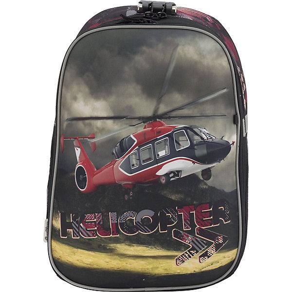Купить Рюкзак школьный Seventeen Вертолёт с кодовым замком + наушники, Китай, синий, Мужской