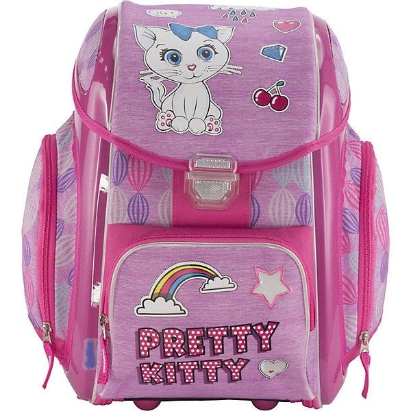 Купить Ранец-трансформер Seventeen Pretty Kitty + наушники, без наполнения, Китай, розовый, Женский